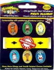 AllerMates Multi Charm Wristband Set Including 6 Common Charms