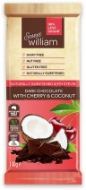 Sweet William NAS Dark Chocolate with Cherry & Coconut  100g