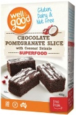 Well And Good Chocolate Pomegranate Slice with Coconut Drizzle  495g