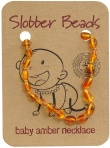Slobber Beads Baltic Amber Baby Teething Necklace Honey Oval