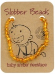 Slobber Beads Baltic Amber Baby Teething Necklace Honey Round