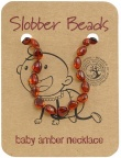 Slobber Beads Baltic Amber Baby Teething Necklace Cognac Round