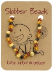 Slobber Beads Baltic Amber Baby Teething Necklace Multi Round
