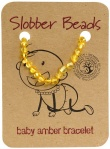 Slobber Beads Baltic Amber Baby Teething Bracelet Lemon Round