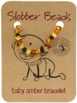Slobber Beads Baltic Amber Baby Teething Bracelet Multi Round