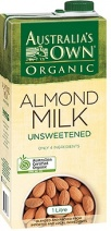 Australia's Own Organic Unsweetened Almond Milk 8x1L