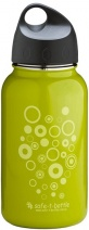 Safe-T Hyperlite Stainless Steel Mini Bottle Circles Green 450ml
