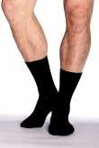 Boody Organic Bamboo Mens Socks Business Black Size 6-11