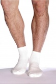 Boody Organic Bamboo Mens Socks Sport Ankle White Size 6-11