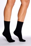 Boody Organic Bamboo Womens Everyday Socks Black