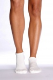 Boody Organic Bamboo Womens Sports Ankle Socks White